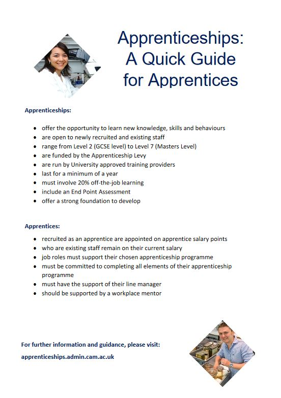 Click to view Apprenticeships: A quick guide for apprentices