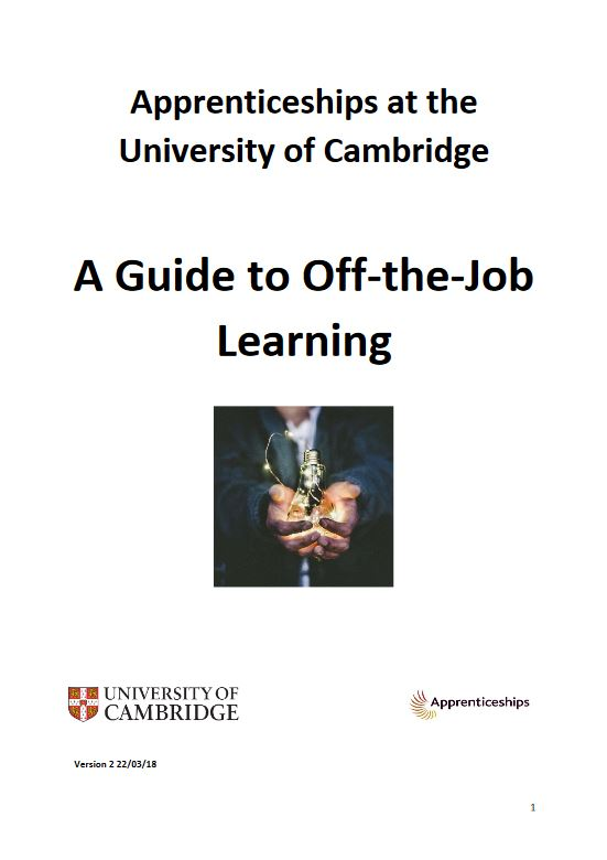 Click to view A guide to off-the-job learning